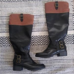 Rampage Imelda Riding Boots Black & Tan